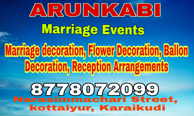 ARUNKABI MARRIAGE EVENTS